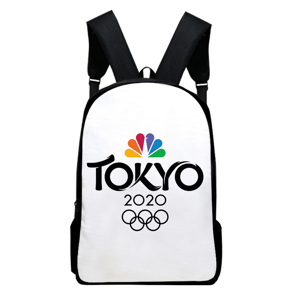 Sports Backpack Man Woman Shoulders Bag 2020 Tokyo Olympics Print Casual Bags J1_Free size