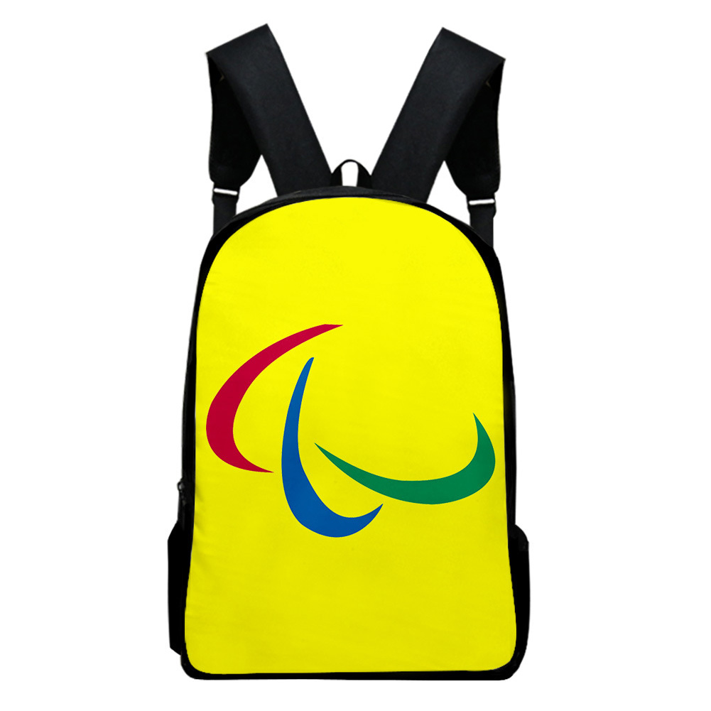 Sports Backpack Man Woman Shoulders Bag 2020 Tokyo Olympics Print Casual Bags L_Free size