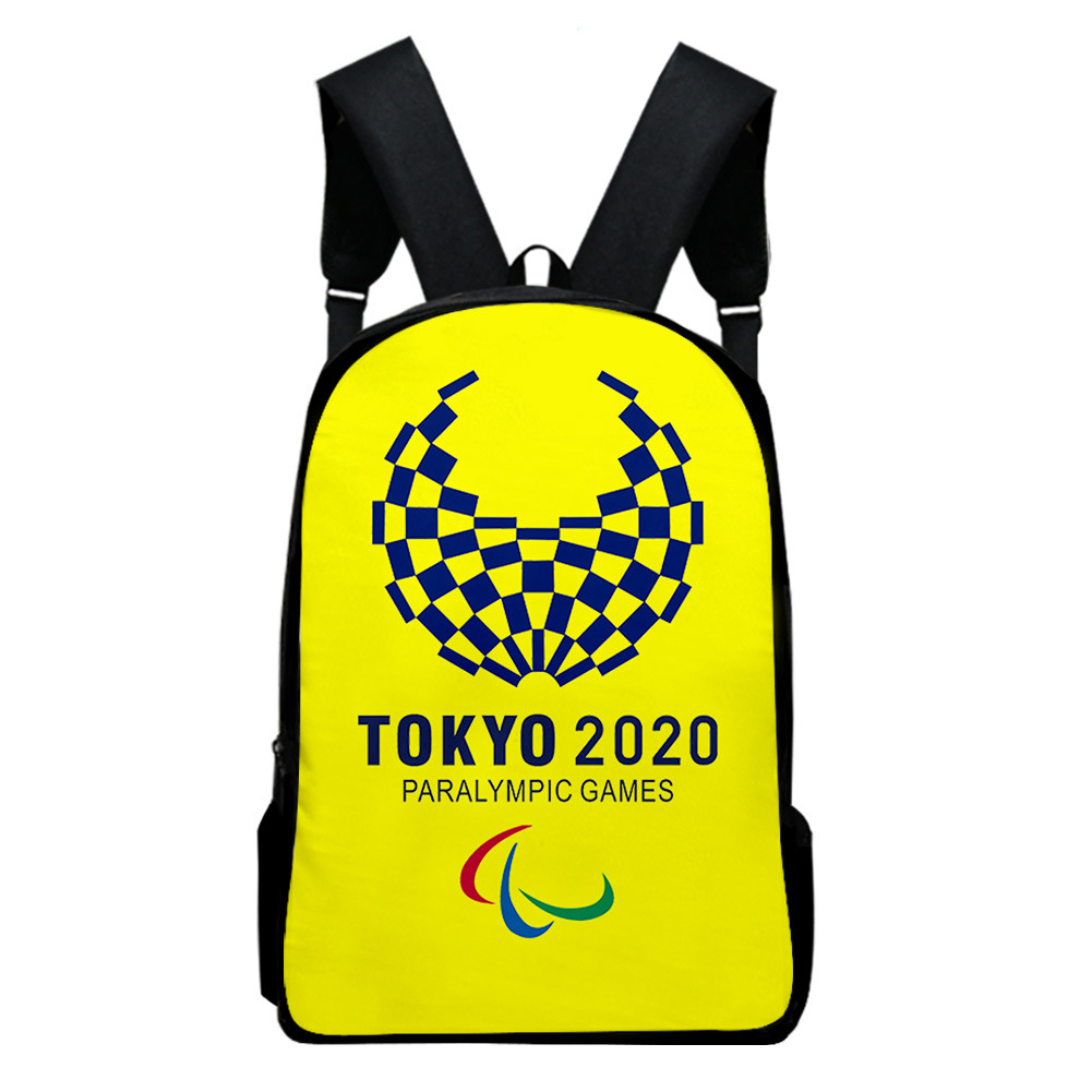 Sports Backpack Man Woman Shoulders Bag 2020 Tokyo Olympics Print Casual Bags Q_Free size