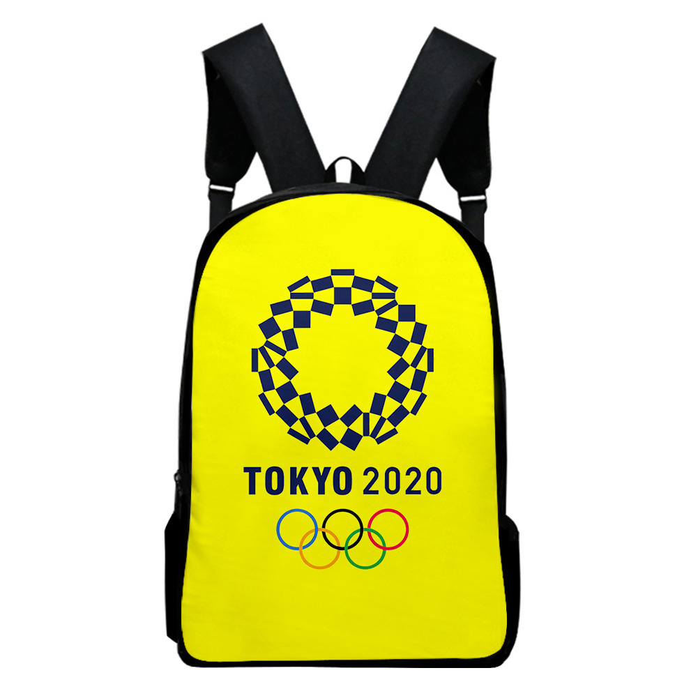Sports Backpack Man Woman Shoulders Bag 2020 Tokyo Olympics Print Casual Bags P_Free size