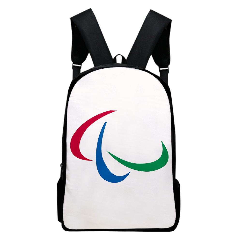 Sports Backpack Man Woman Shoulders Bag 2020 Tokyo Olympics Print Casual Bags K_Free size