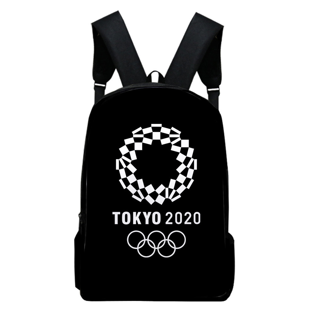 Sports Backpack Man Woman Shoulders Bag 2020 Tokyo Olympics Print Casual Bags O1_Free size