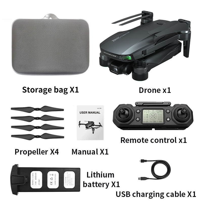Xmr/c M9 Drone 6k Gps 5g Wifi 3 Axis Gimbal Camera Brushless Motor Supports 32g Tf Card Flight 28 Min Vs F11 Pro Drones 3 batteries