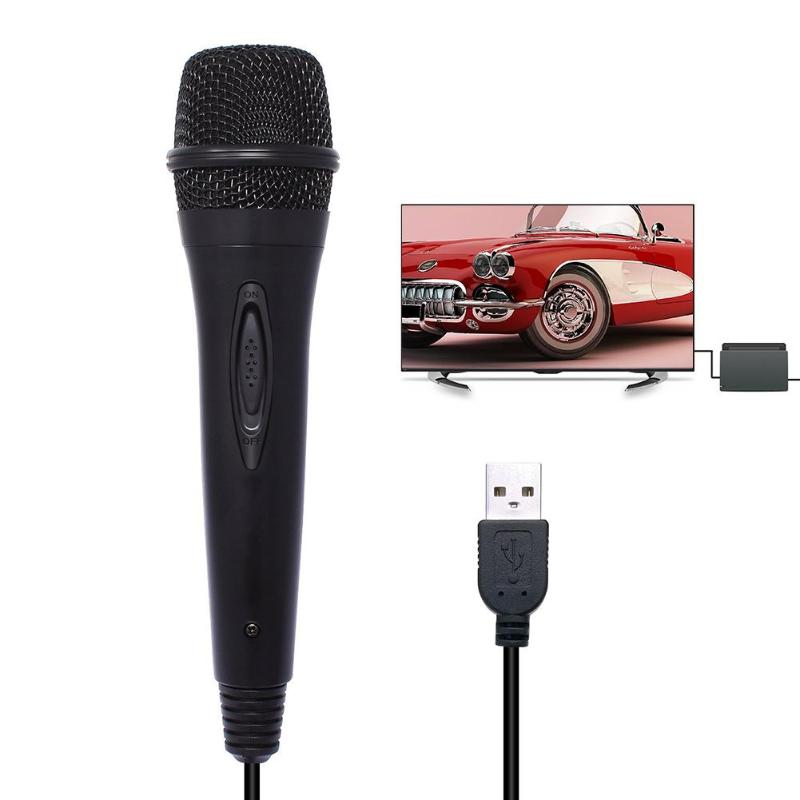 USB Wired 3m/9.8ft Microphone High Performance Karaoke Mic for Nintend Switch PS4 Wii U XBOX360 PC black