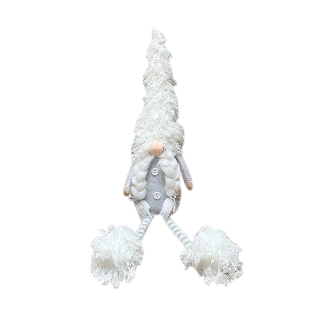 Nordic Old Man Faceless  Doll With White Long Legs For Home Christmas Decorations 64 long-legged sitting Nordic elderly braids