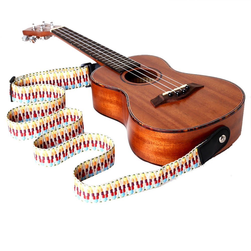 Fashion Adjustable Ukulele Guitar Strap Belt for Acoustic Guitar Bass Musical Instrument Accessories