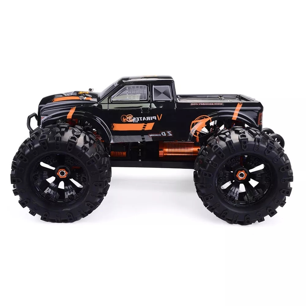ZD Racing MT8 Pirates3 1/8 2.4G 4WD 90km/h Electric Brushless RC Car Metal Chassis RTR  Black orange_Vehicle
