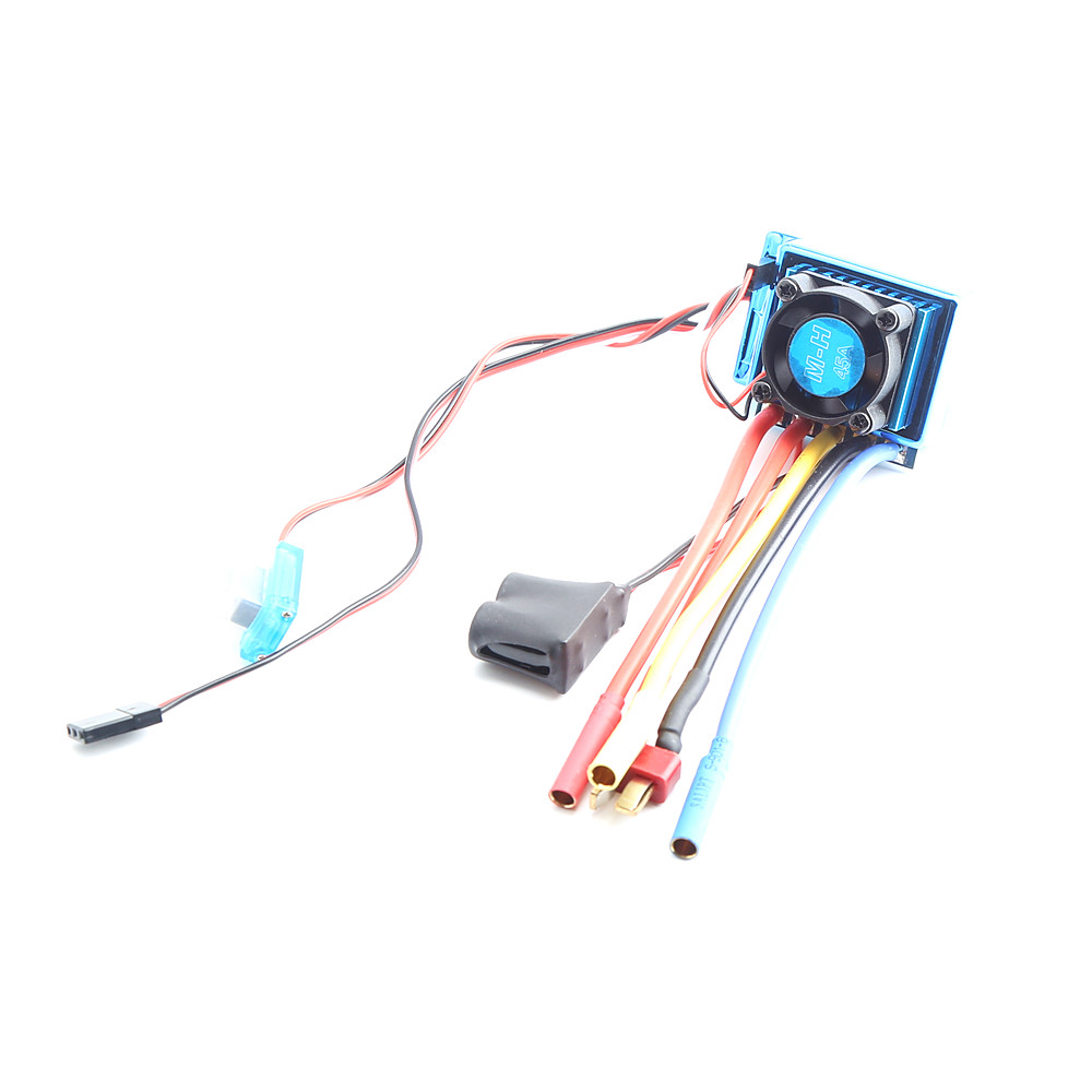 Waterproof 45A 60A 80A 120A Brushless ESC Electric Speed Controller Dust-proof for 1/8 1/10 1/12 RC Car Crawler RC Boat Part 45A KSX3453