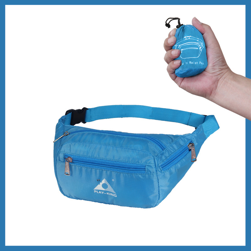 Sports Waist Bag Casual Outdoor Portable Lightweight Folding Multifunctional Running Mobile Phone Waist Bag blue_7 inch