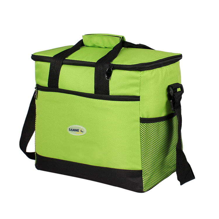 16L Large Capacity Thermal Lunch Bag Portable Food Picnic Handbag Travel Cooler Insulated Bags Green