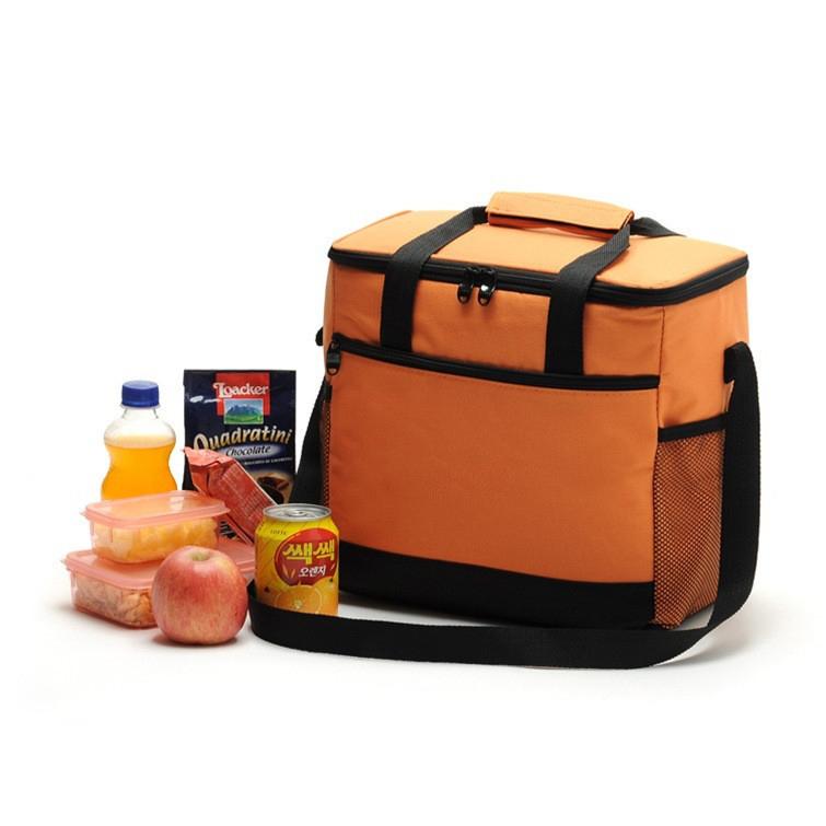 16L Large Capacity Thermal Lunch Bag Portable Food Picnic Handbag Travel Cooler Insulated Bags Orange
