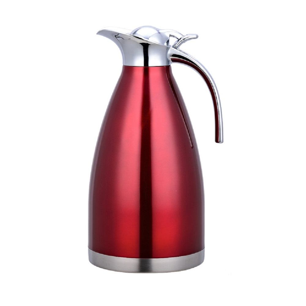 Vacuum Double Stainless Steel Insulated Water Kettle for Coffee Drinking red