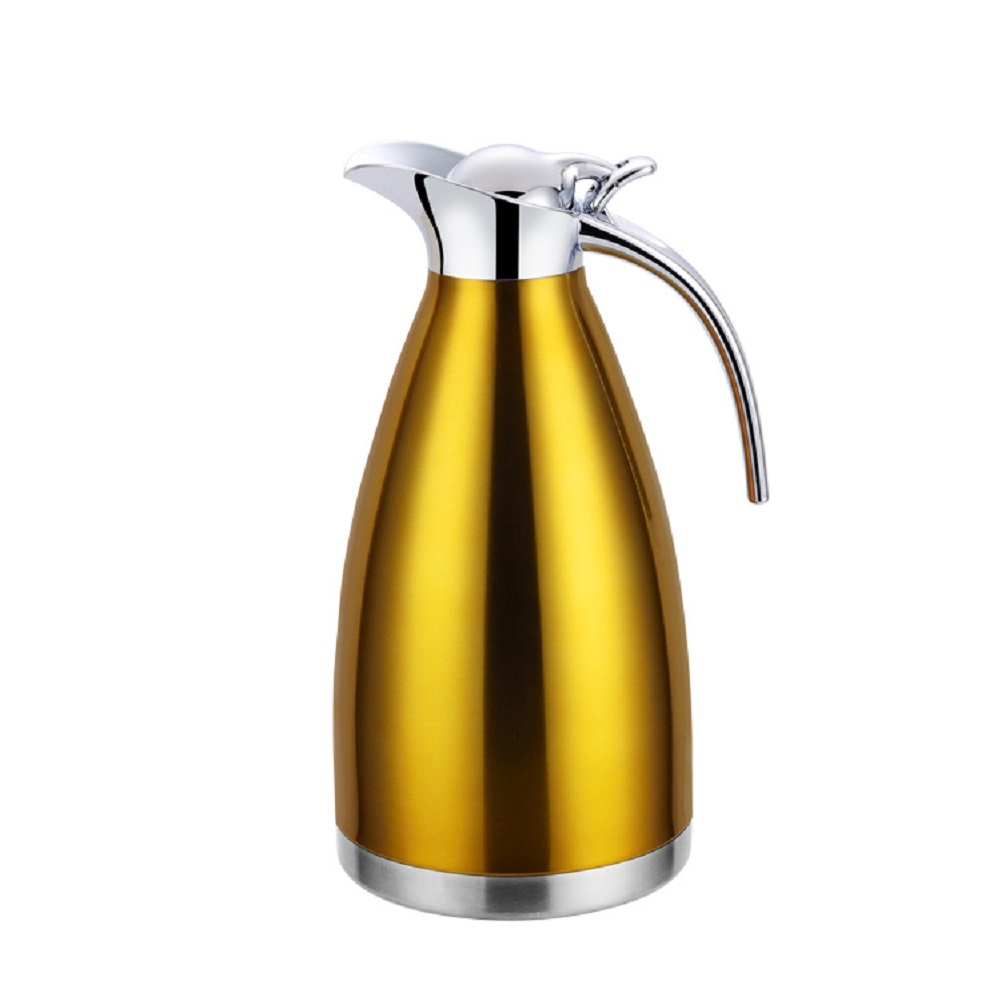 Vacuum Double Stainless Steel Insulated Water Kettle for Coffee Drinking gold