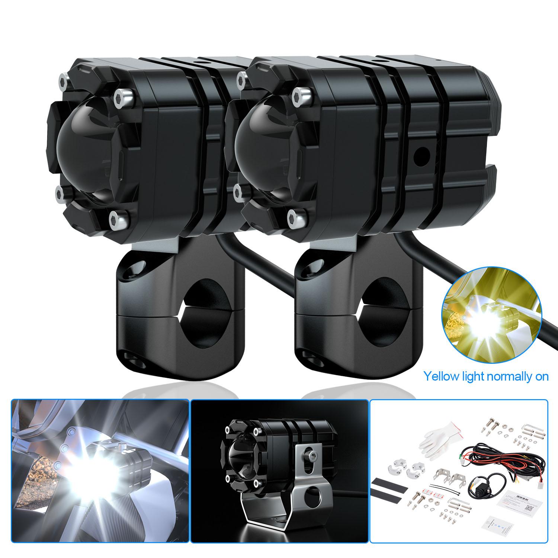 Aluminum Alloy Dual-lens Led Headlights Dual-lamp Motorcycle Headlights With Aluminum Alloy Switches