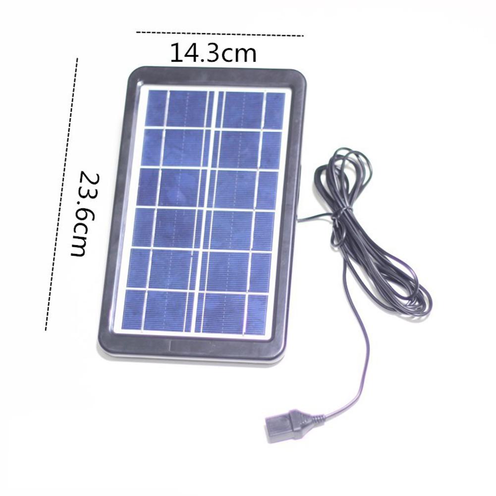 Solar Panel Water Pump Ceramic Water Tank USB Quiet Brushless Motor Submersible Decoration 3W solar panel