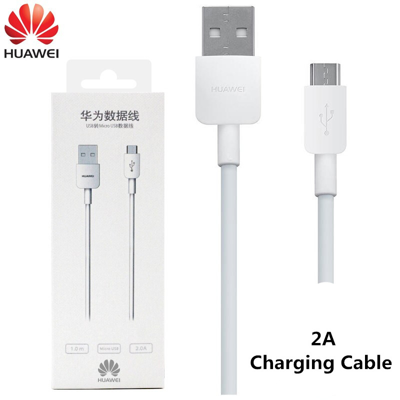 Huawei Micro USB Cable for Fast Charging 2A Android Phone Charger Microusb Data Cables for Huawei AP70 white