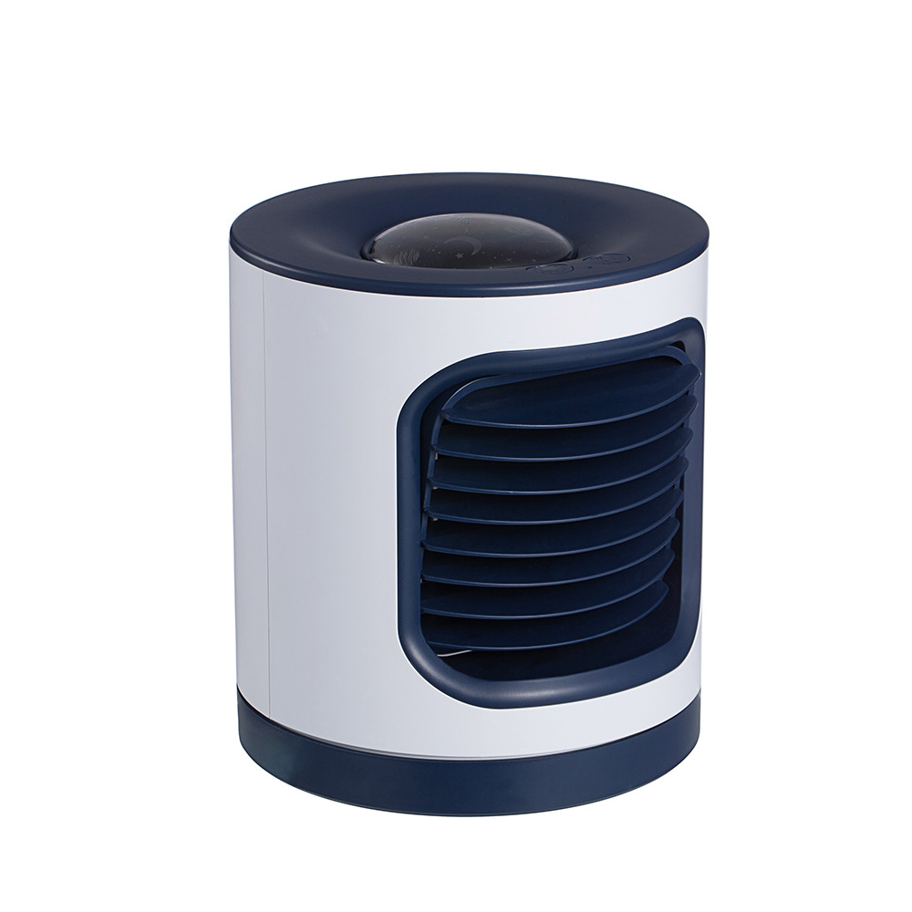 Projection Lamp Air Conditioner Fan Light Usb Charging Anion Air Purifier Electric Fan Navy blue