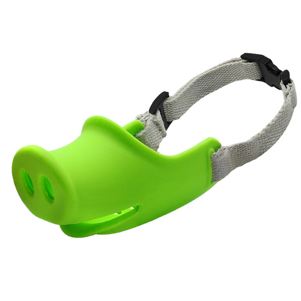 Breathable Dog Mouth Muffle Mouth Mask Prevent Biting Barking Eating Dirt Pet Supplies green_L-large