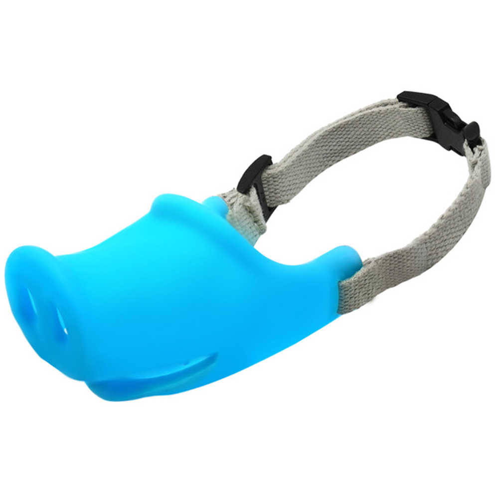 Breathable Dog Mouth Muffle Mouth Mask Prevent Biting Barking Eating Dirt Pet Supplies blue_L-large