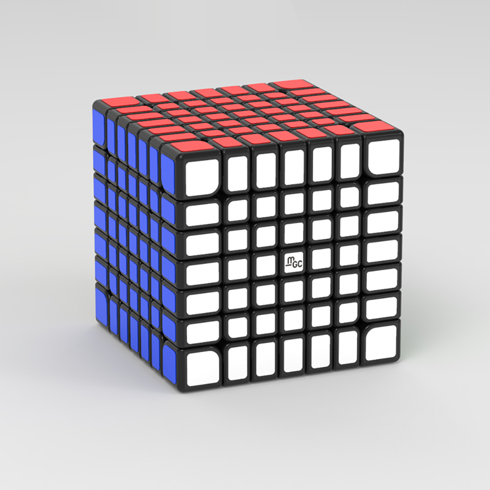 Magic cube YJ 7x7 MGC Magnetic edition Magnetic stickerless Speed Cube  black