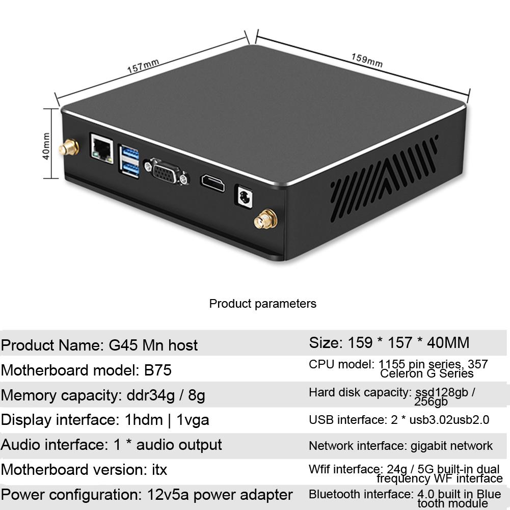 Abs G-45 Black Mini Host Full Cooper Turbo Cooler 19v 9.5a Mini Host i53470/4G/128G