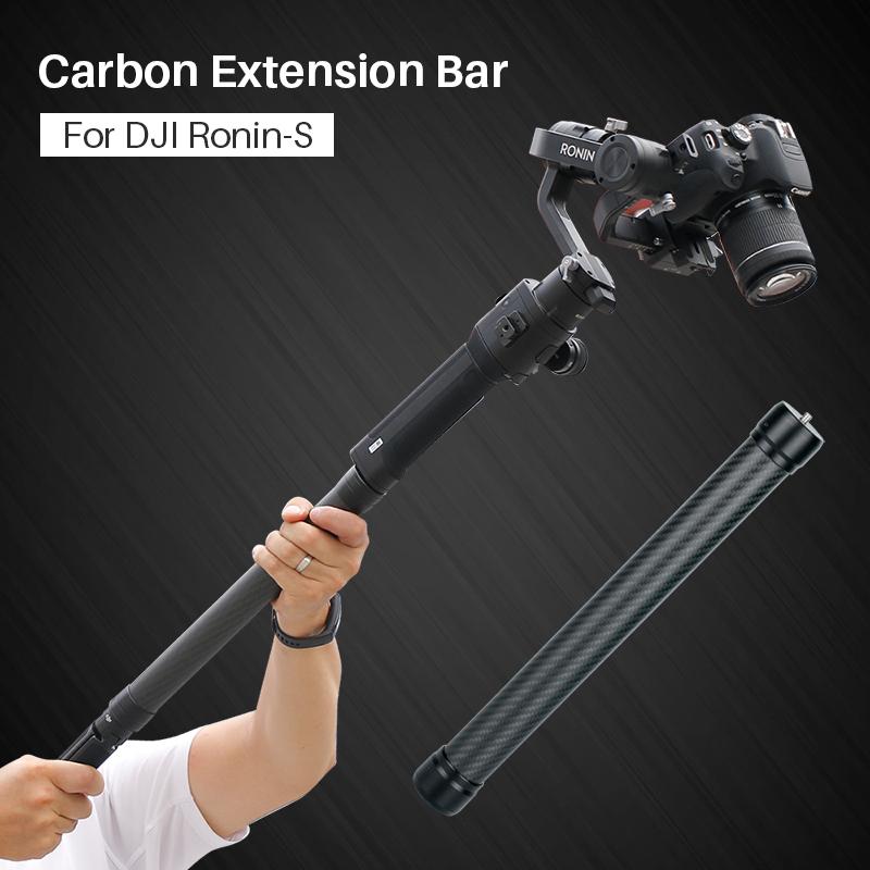 Ulanzi Carbon Fiber Extend Rod Pole Stick for Dji Ronin S Crane V2 2 Plus Feiyu G6 G5 AK4000 A2000 Moza Air 2 Telescopic Handheld Bar black