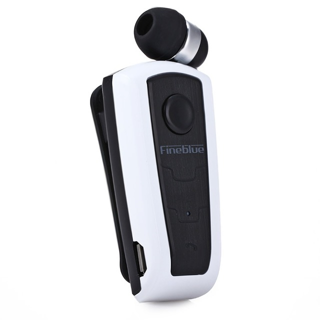 F910 Wireless Bluetooth V4.0 In-Ear Headset Wear Clip Earphone Silver