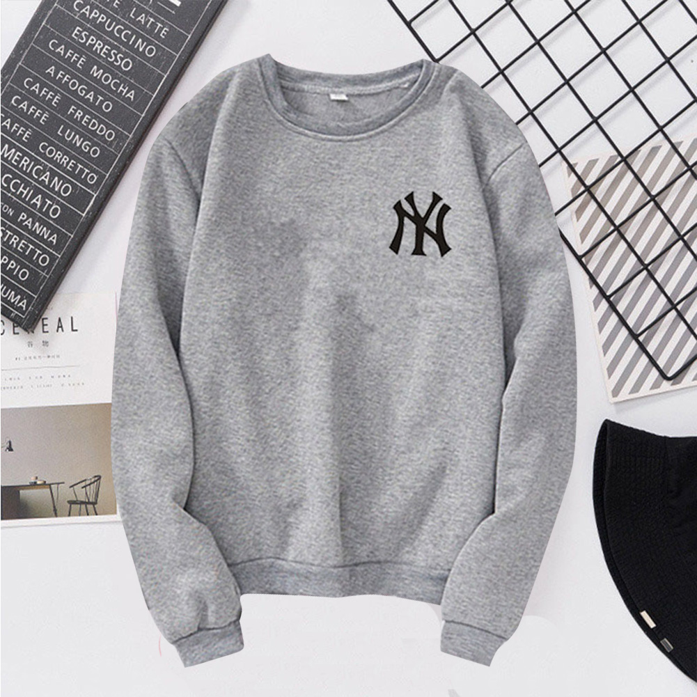 Men Women Lovers Fashion Round Collar Fleece Loose Hooded Sweatshirts Coat gray_L