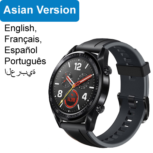 Huawei Watch GT Smart Watch Support GPS NFC 14 Days Battery Life 5 ATM Water proof Phone Call Heart Rate Tracker for Android iOS Graphite Black_46mm