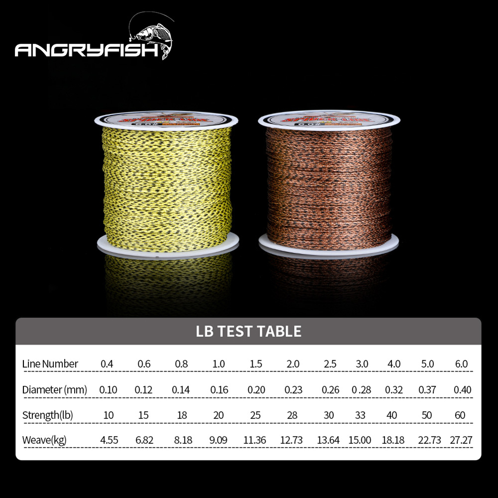 Spider-Line Series 100m PE Braided Fishing Line Camouflag 4 Strands 20- 220LB Multifilament Fishing Line yellow