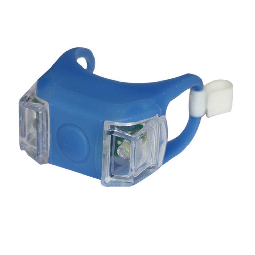 Bicycle  Led  Light 6th Generation Silicone Double-eye Light Bicycle Safety Warning Decorative Light Blue