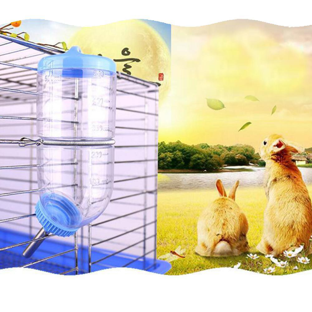 300ML Pet  Water  Dispenser Water Bottle No Drip For Rabbit Squirrel Hamster Blue