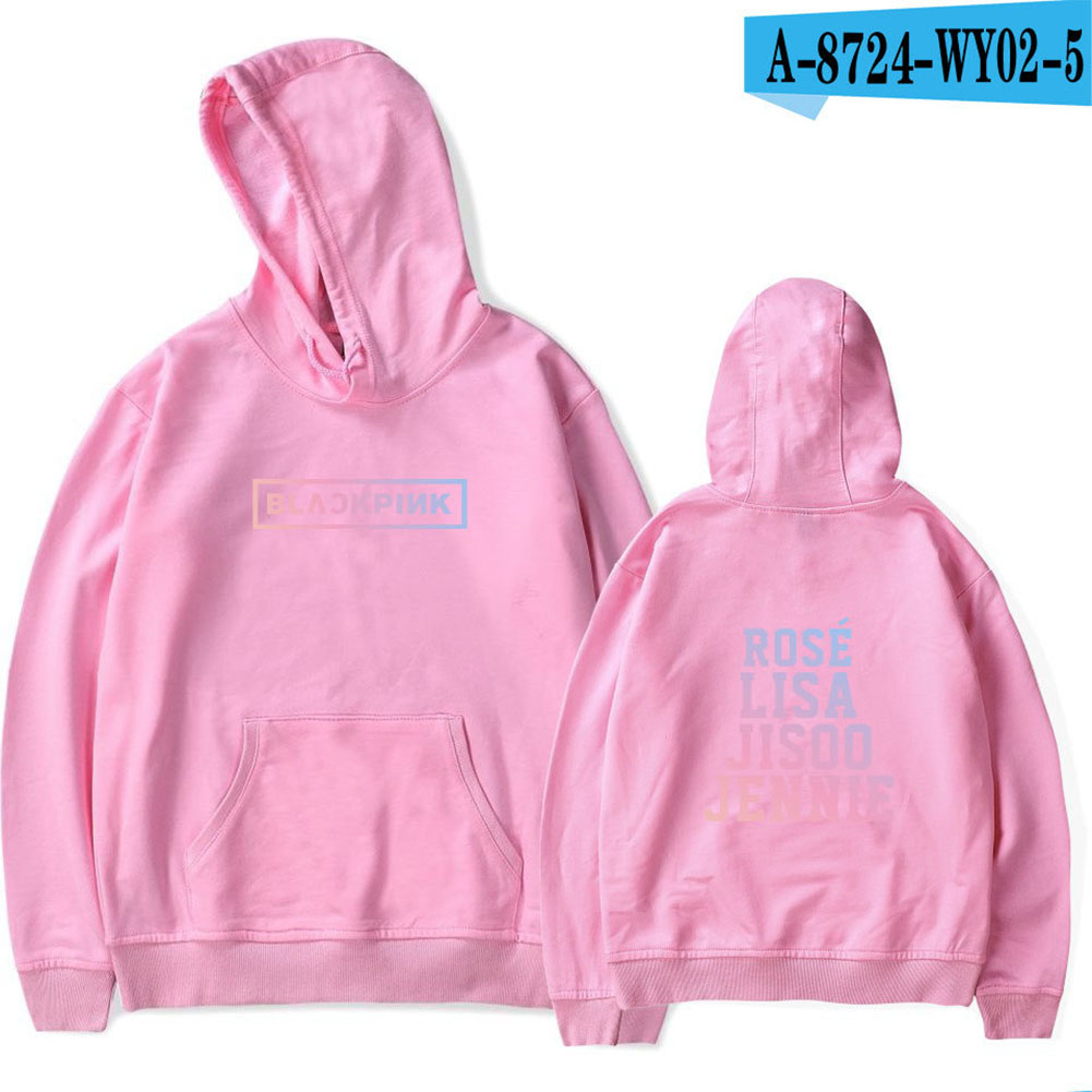 Fashion Loose Chic All-matching Unisex Hoodies Pink_L