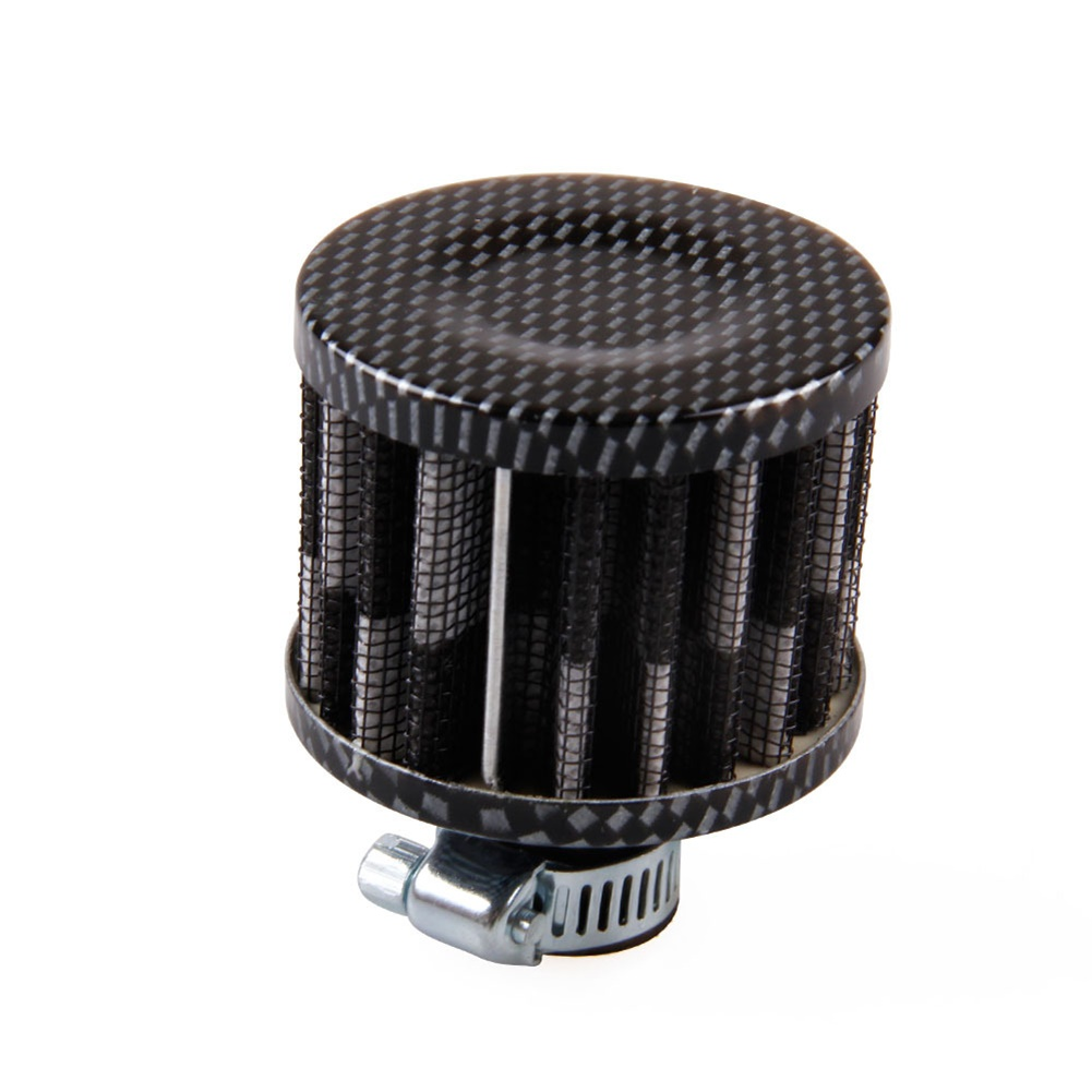 12mm Air Filter Motorcycle Turbo Vent Crankcase Breather Electroplate Black and White