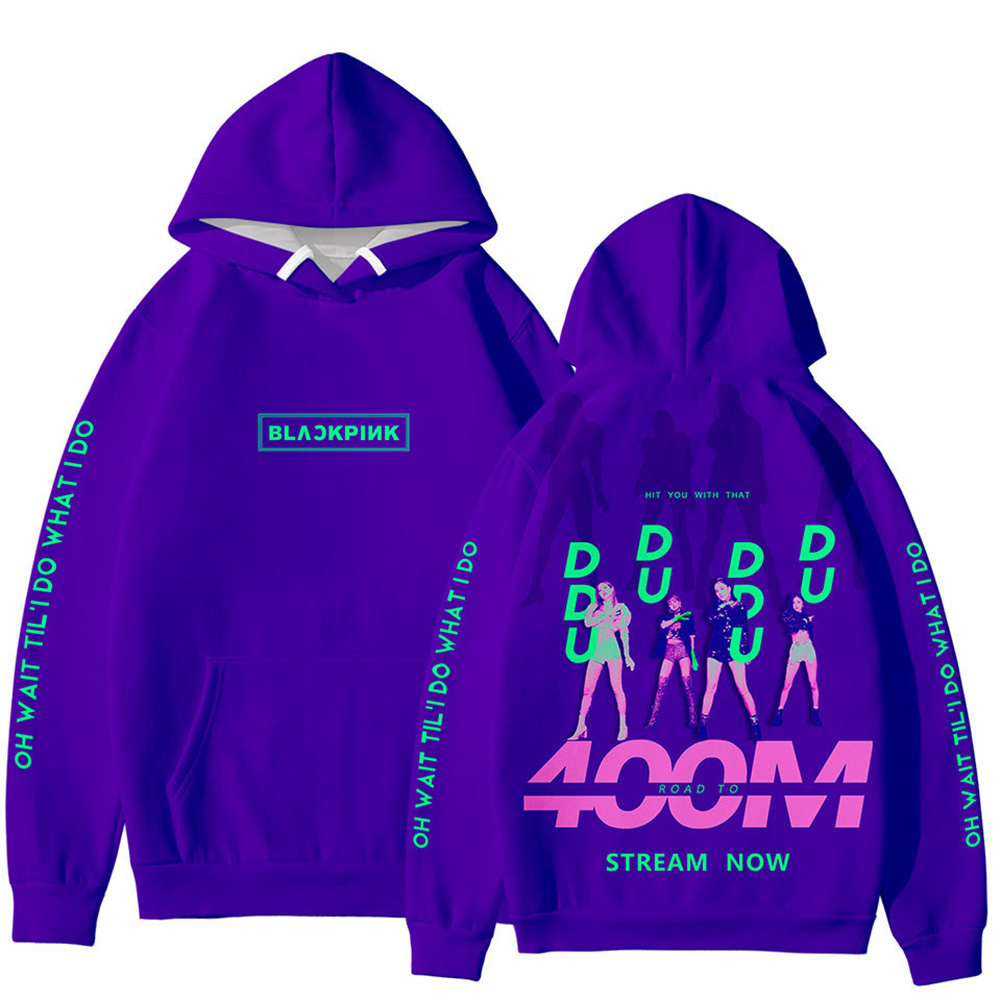 Men Women Blackpink Girls 3D Digital Printing Fashion Casual Hoodie Long-Sleeve Pullover Tops with Hood Style C_XXL