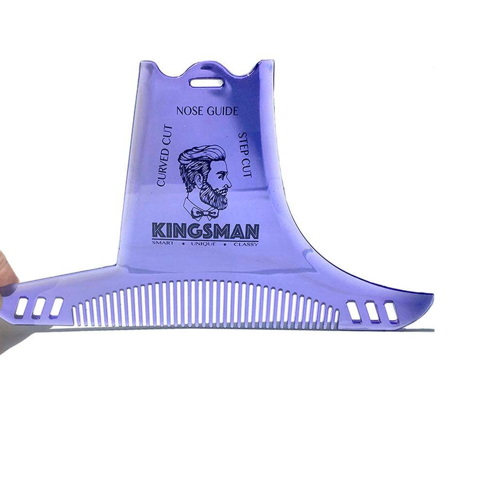 Beard Shaping Styling Template Beard Comb Men Shaving Tools Hair Beard Trim Template Comb purple