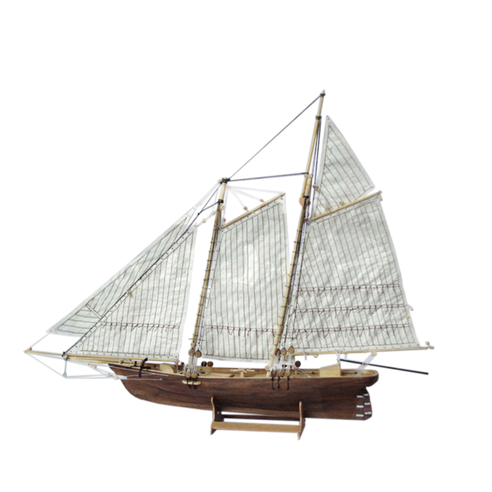 1:120 DIY Wooden Assembly Sailing Ship Model Classic Sailing Boat Laser Cutting Process Puzzle Toys as shown