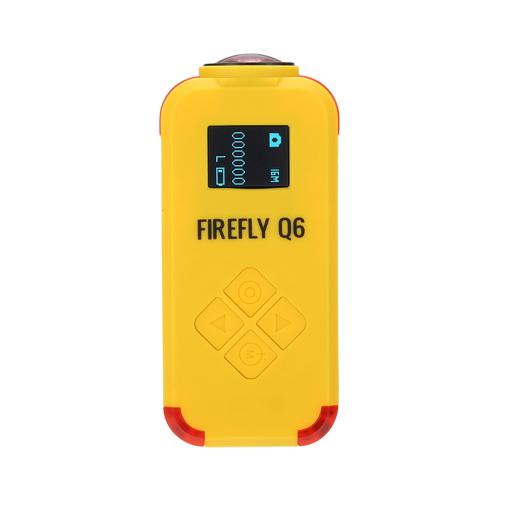 Firefly Q6 4K HD FPV Aerial Camcorder 120 Wide Angle Action Camera for ZMR250 QAV250 210 QAV180 Racing Drone yellow