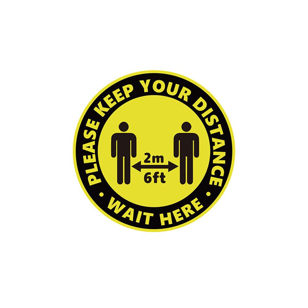 Keep Your Distance Floor Sticker for Queue Distance Crowd Control C