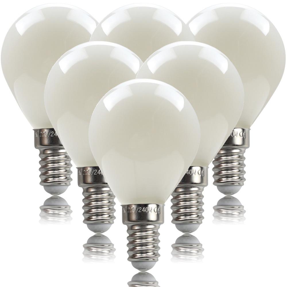 6Pcs G45 Led Globe Light White Shell Energy Saving Led Bulbs 6500K 220V for Home