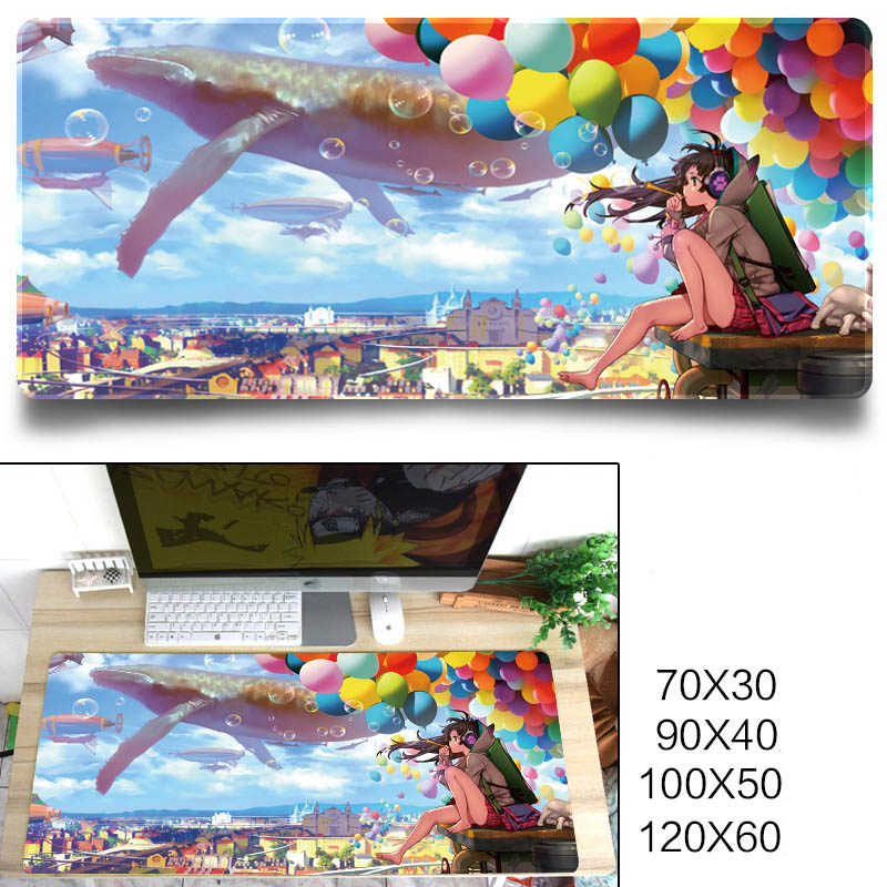 Fashion Cool Pattern Gaming Mouse Pad Protector Desk Pad for Office Home Desk Dream balloon_700x300x3 mm