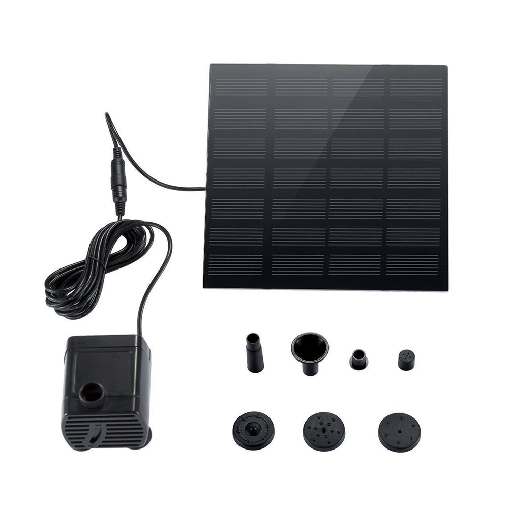 Solar  Fountain Pump Submersible Pump For Floating Outdoor Pond Garden Pool  Black