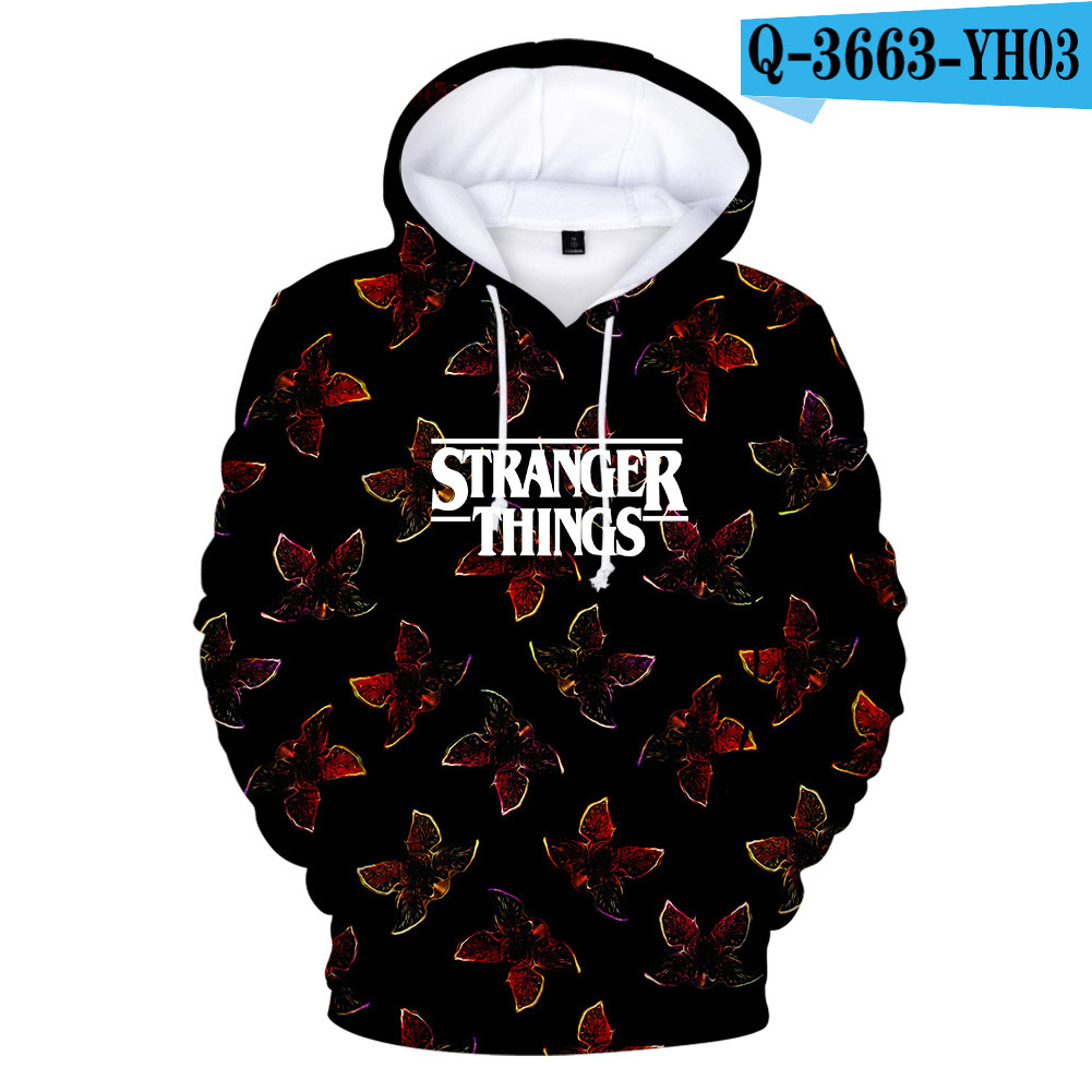 Stranger Things 3D Color Printing Hooded Sweatshirts for Men Women Adults Q-3663-YH03 B_XXXL