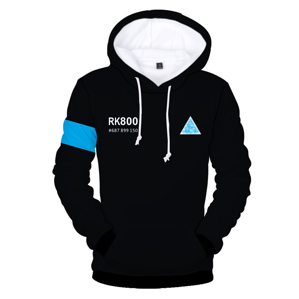 Men 3D Print Hoodie Fashionable Cool Game Sweater Casual Pullover as shown in picture B_XL