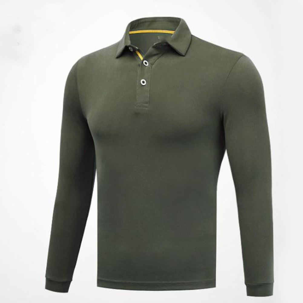 Golf Clothes Male Long Sleeve T-shirt Autumn Winter Clothes for Men YF148 Army Green_M