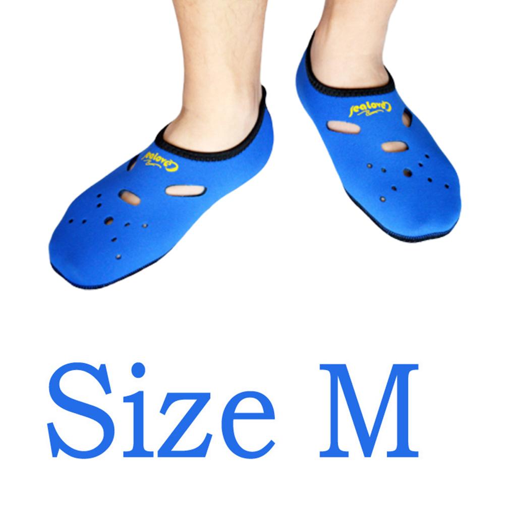 Water Sports Neoprene Diving Socks Anti Skid Beach Sock Swimming Surfing Neoprene Socks Adult Diving Boots Wet Shoes blue_M