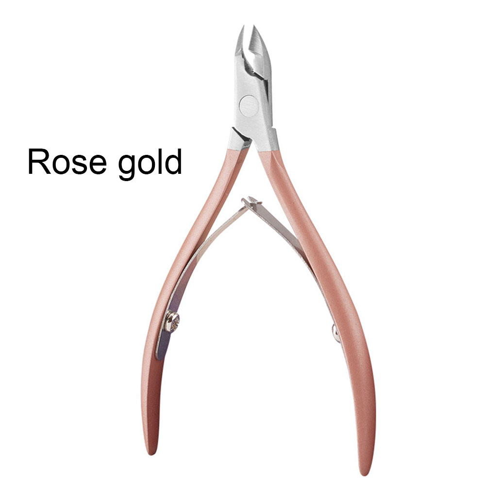Portable Stainless Steel Nail Art Cuticle Nipper Cutter Clipper Manicure Pedicure Tools Nail Scissors Rose gold