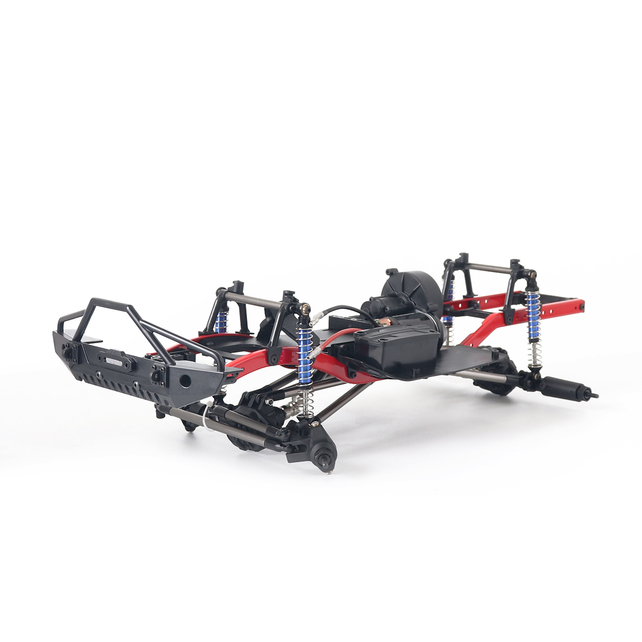 RC Car 275mm Wheelbase Assembled Frame Chassis with Wheels for 1/10 RC Crawler Car SCX10 D90 TF2 MST black