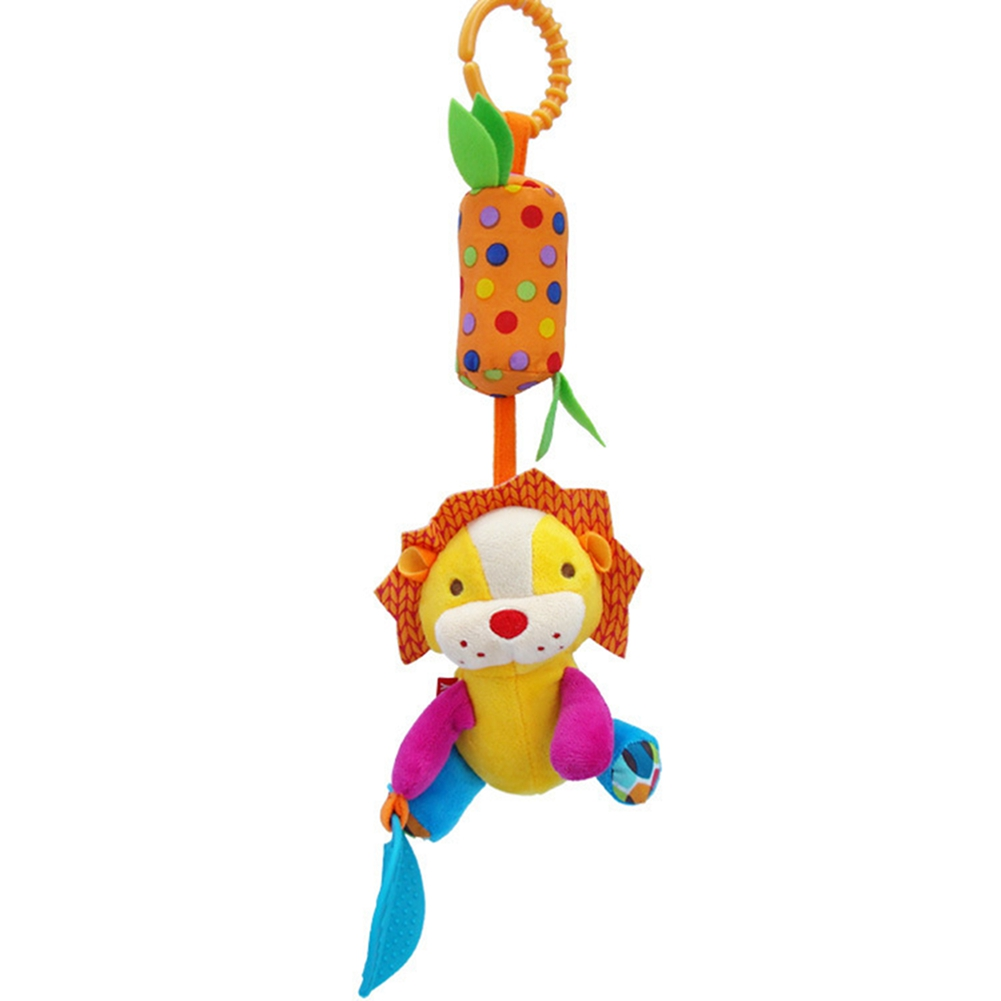 [EU Direct] Baby Cute Cartoon Crib Stroller Decoration Bed Hanging Rattle Toy Teether Toys