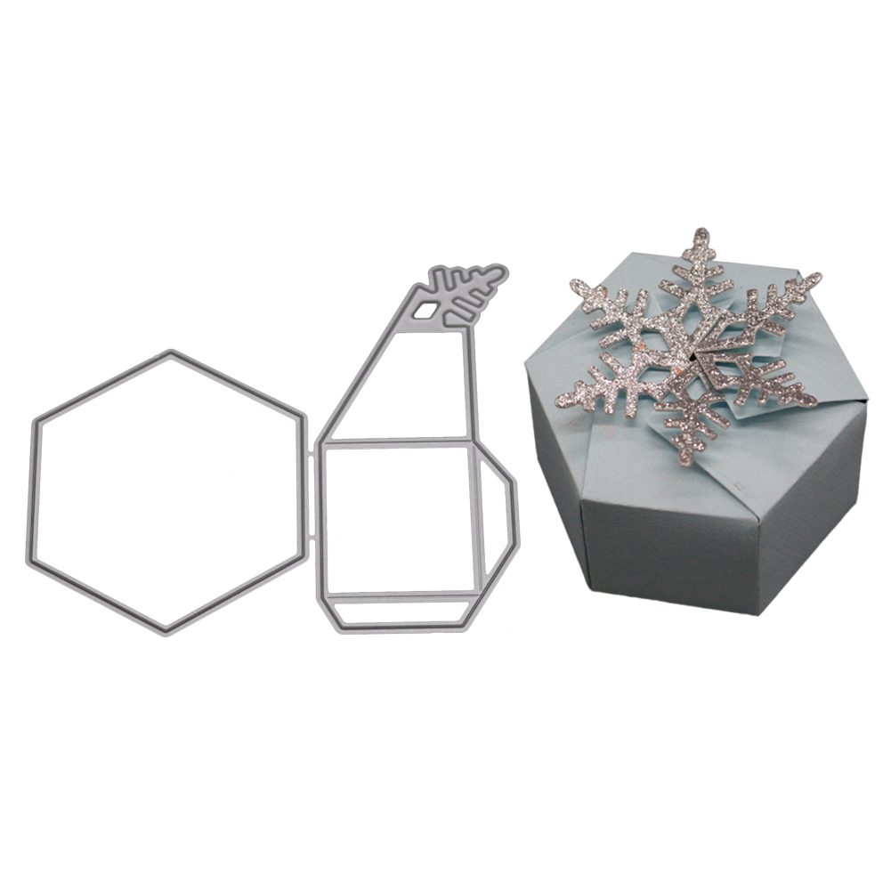 [EU Direct] Three-dimensional Gift Box Die and Embossing Scrapbooking Metal Dies 2018 New